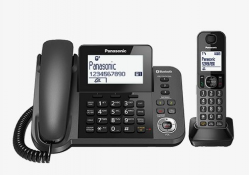 Panasonic Corded & Cordless Telephone Black