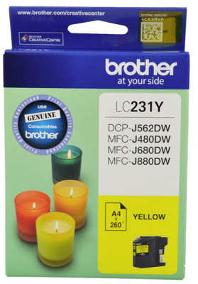 Brother Lc231Y Ink Cartridge Yellow