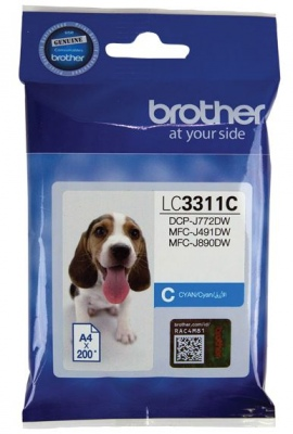 Brother Lc3311C  Ink Cartridge Cyan  For Mfc-J491D