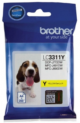 Brother Lc3311C Ink Cartridge Yellow    Mfc-J491D