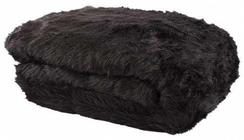 Marlborough Midnight Faux Fur Throw 140X180Cm