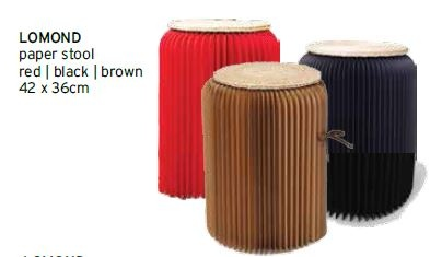 Lomond Brown Cardboard Stool 42X36CM