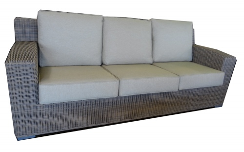 Maui Outdoor 3 Seater Wicker Cream Natural