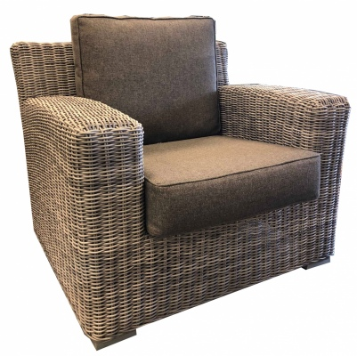 Maui Outdoor Armchair Wicker Grey
