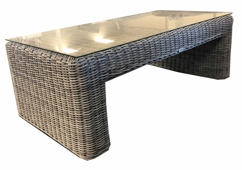 Maui Outdoor Coffee Table Wicker Grey
