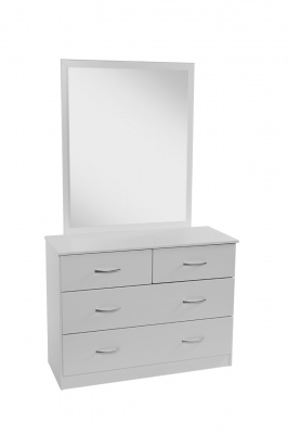 Mayson 4 Draw Dresser With Mirror White 996X1685H