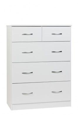 Mayson 5 Draw Tallboy White 796X1057H