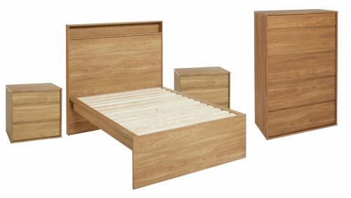 Moda 4Pc Bedroom Suite With King Single Slat Frame