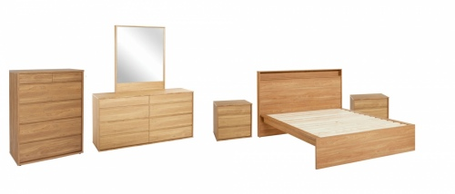 Moda 5Pc Bedroom Suite With King Slat Bed