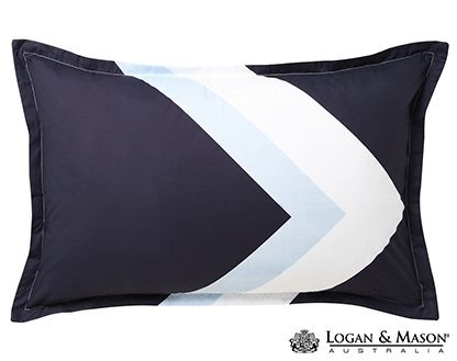 L&M Marley Navy King Duvet Cover Set