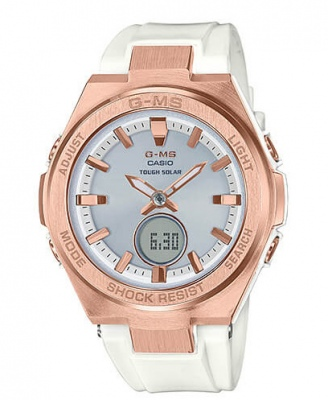 Baby G G-Ms Rose Gold White Analogue