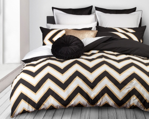 L&M Marley Gold Auz Super King Duvet Cover Set