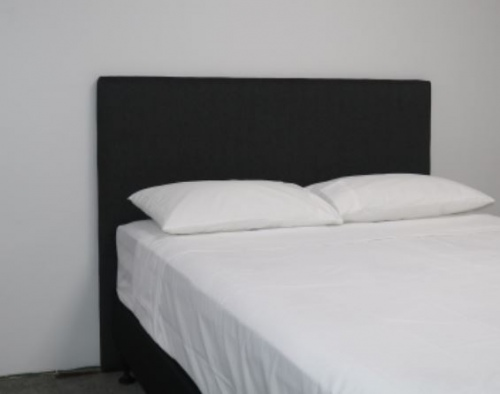 Milano Black Upholstered King Single Headboard
