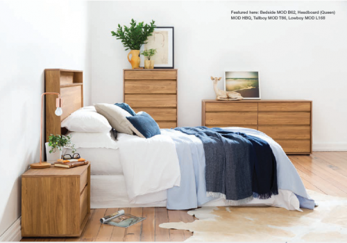 Moda 5Pc Bedroom Suite Honey Walnut Compact