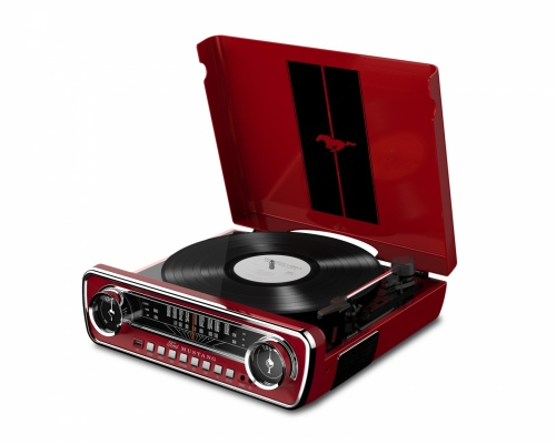 Ion Mustang Turntable Red