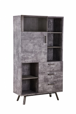 Nashville Concrete Top Display Cabinet 1.0X1.8