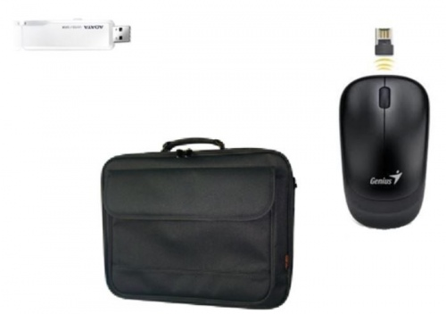 Notebook Starter Bundle: Mouse Bag & Flash Drive