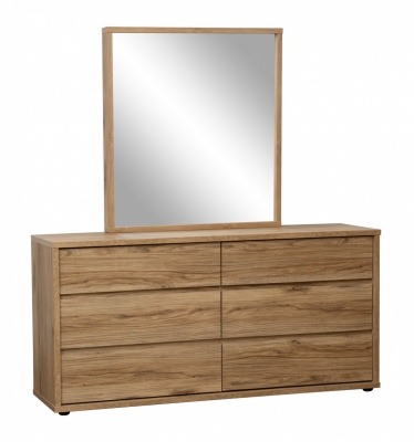 Nico 6Dr Dresser Honey Oak 1547X396X1679