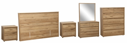 Nico 5Pc Bedroom Suite With King Headboard Nz Made