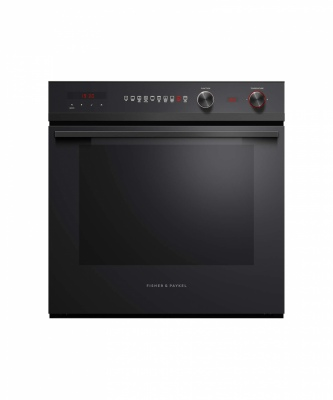 F&P Single Built In Oven 85L 9Funct Pyro Black