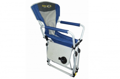 Easy Fold Directors Camping Chair Blue Grey