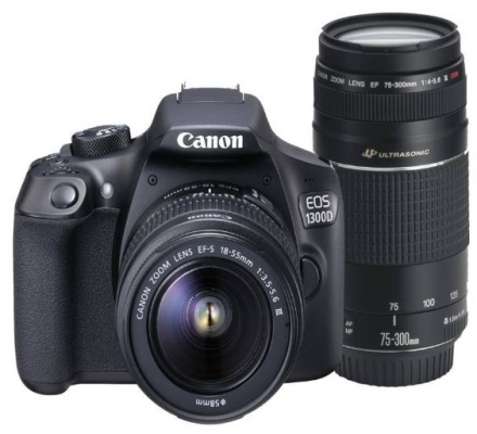 Canon Eos1300D 18MP Dslr Camera + Twin Lens Kit