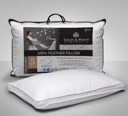 L&M Standard Pillow 100% Feather