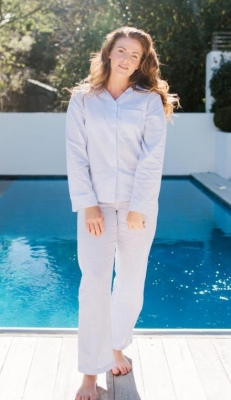Baksana Blair Classic Pj Set X-Large Cotton/Linen