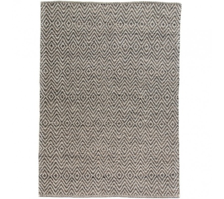 Walker Dark Grey White Wool Flat Weave 2.0X2.9M