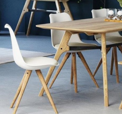 Flow Oak & Brushed Metal Dining Table 1800X900X760