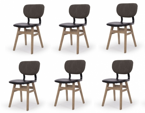 Lappland Dining Chair Pu Seat Set Of 6