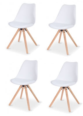 Orbit White Dining Chair Set Of 4