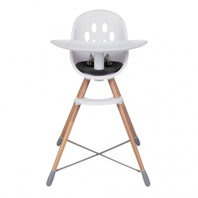 Phil & Teds Poppy High Chair Wood Legs Black Seat