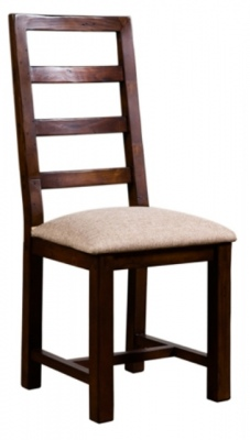 Post And Rail Dining Chair With Cushioned Seat