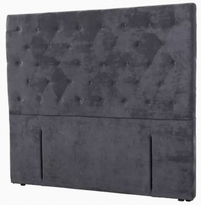 Epsom Dark Grey Velvet Upholstered Headboard Queen