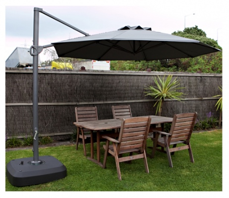 Cantilever Outdoor Umbrella Black 3.3M Crank Handl