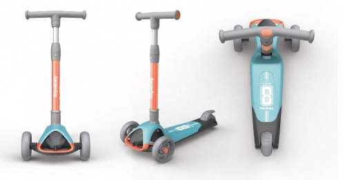 Royal Baby Speed X1 Scooter Orange Lt Blue