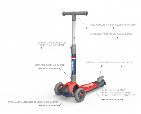 Royal Baby Speed X1 Scooter Blue Red