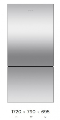 F&P Active Smart Fridge Frz 519L Stain 790X1720H