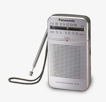 Panasonic Handheld Portable Radio Silver