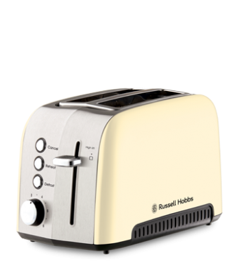 Russell Hobbs Heritage Vogue 2 Slice Toaster Cream