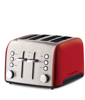 Russell Hobbs Heritage Vogue 4 Slice Toaster Ruby