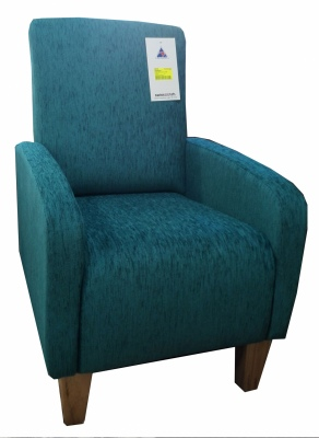 Riviera Chair In Ardo Teal Fabric