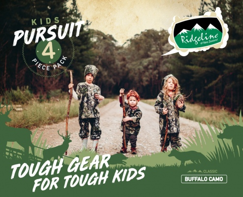 Ridgeline Kids 4Pc Pursuit Pack Buff Camo 16Yr