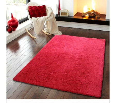 Serenity Venetian Red Chunky Shaggy 2.0X3.0M