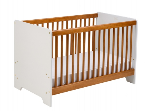 Cariboo Contemporary Cot White/Rimu Nz Made