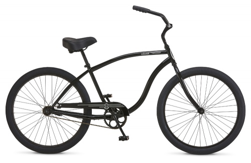 Schwinn S1 Leather Black 26In Cruiser Bike