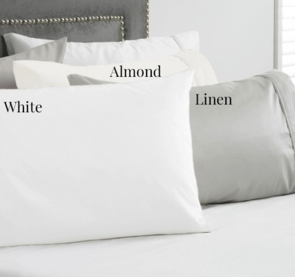 Baksana 1000Tc Cotton Sateen White Euro Pillowcase