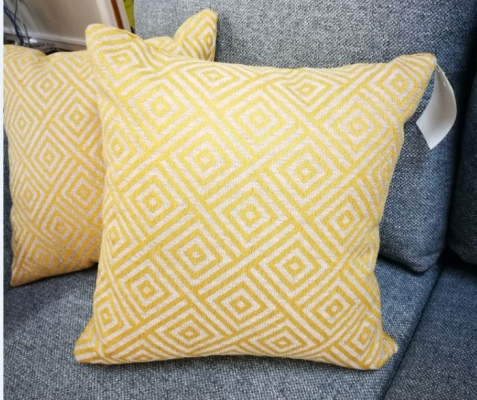 Scatter Cushions In Gold Diamond 45X45Cm