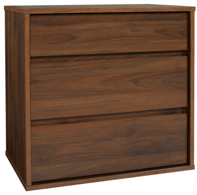 Skov 3Dr Bed Cabinet Tall Dark Walnut 567X574X382